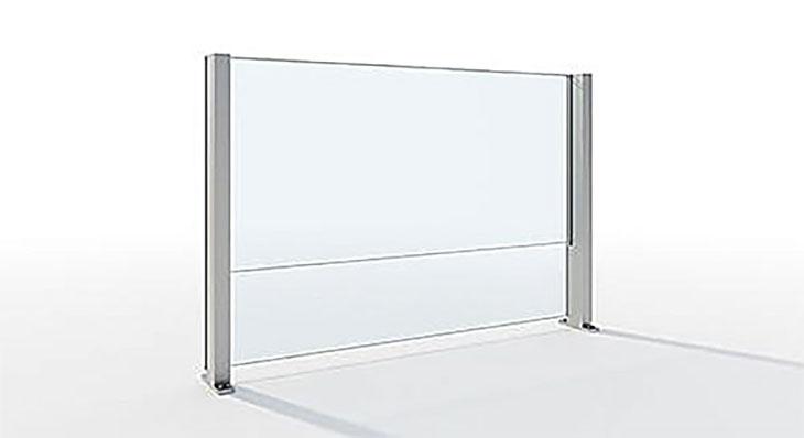 Vindskjerming og levegger i meget solid aluminium og herdet glass fra Sitting Scandinavia