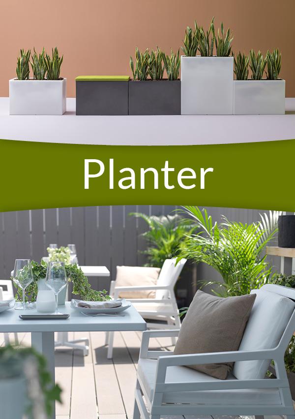 Planter for innendørs og utendørs bruk (utemøbler) fra Sitting Scandinavia